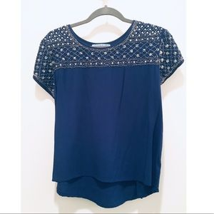 Holiday Ready! Blue Sparkly Top